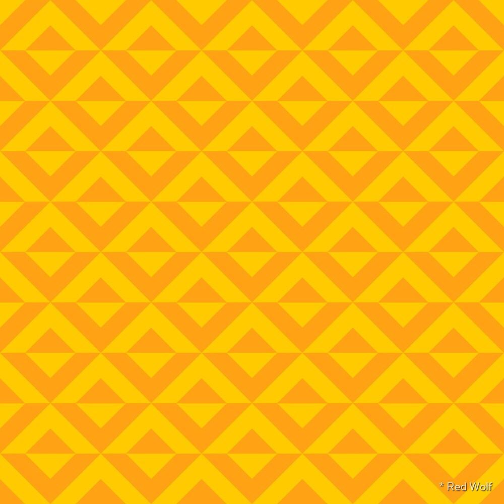 Geometric Pattern: Diamond Split: Yellow by * Red Wolf
