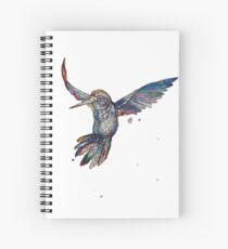 Watercolour Hummingbird Spiral Notebook