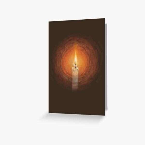 The Candle's Glow Greeting Card