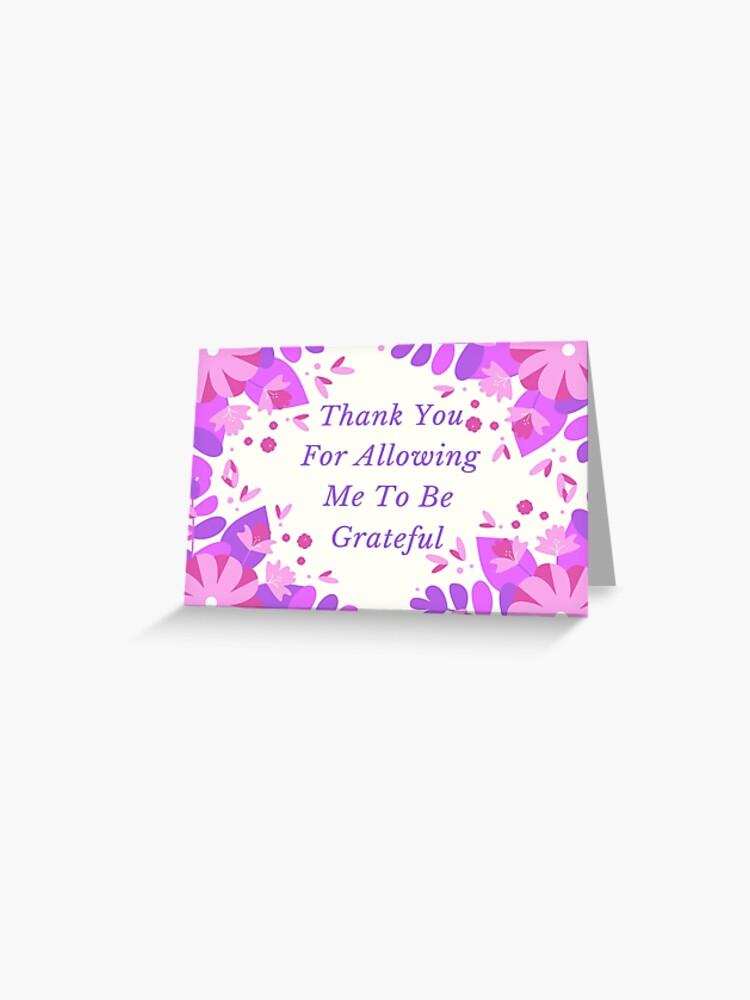 Ich bin dir dankbar