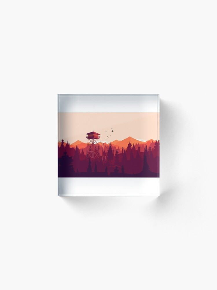 Alternate view of Firewatch - Landscape 2 Acrylic Block