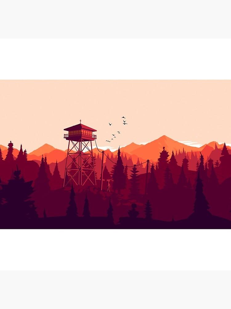 Firewatch - Landscape 2 by BoredGirl