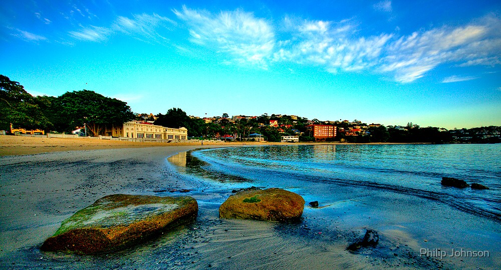 On The  Rocks - Balmoral Beach, Sydney - The HDR Experiencee by Philip Johnson