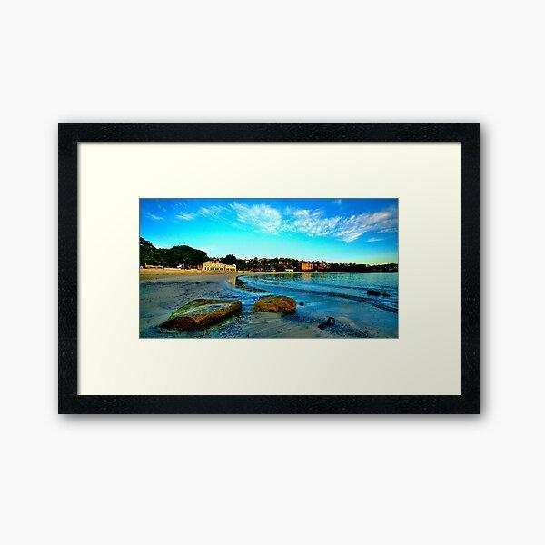On The  Rocks - Balmoral Beach, Sydney - The HDR Experiencee Framed Art Print