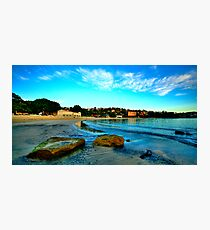 On The  Rocks - Balmoral Beach, Sydney - The HDR Experiencee Photographic Print
