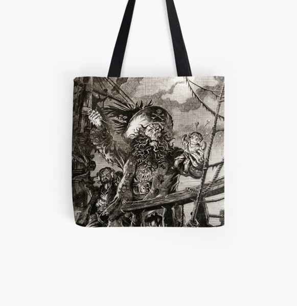 LeChuck's Revenge Engraving All Over Print Tote Bag