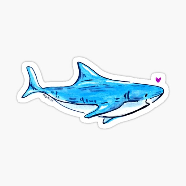 Shark with a Crush Sticker