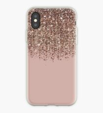 Erröten Rosa Rose Gold Bronze Cascading Glitter iPhone-Hülle & Cover