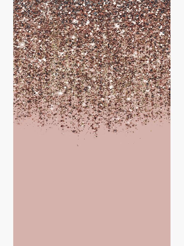 Blush Pink Rose Gold Bronze Cascading Glitter by Christyne