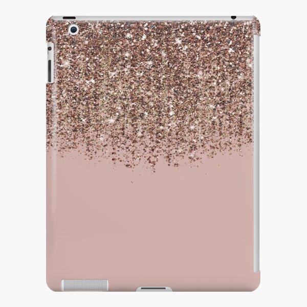 Blush Pink Rose Gold Bronze Cascading Glitter iPad Snap Case