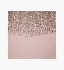 Blush Pink Rose Gold Bronze Cascading Glitter Scarf