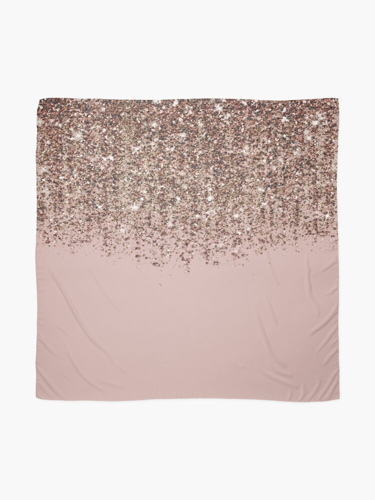 Alternative Ansicht von Erröten Rosa Rose Gold Bronze Cascading Glitter Tuch