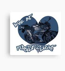 Motorcycle Love At First Sight Canvas Print
