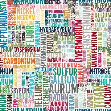 Chemische Elemente  in Farbe... by pASob-dESIGN