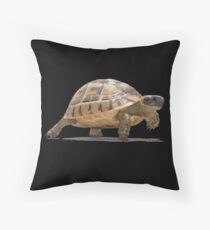 Marching Baby Tortoise Cartoon Vector Isolated Floor Pillow