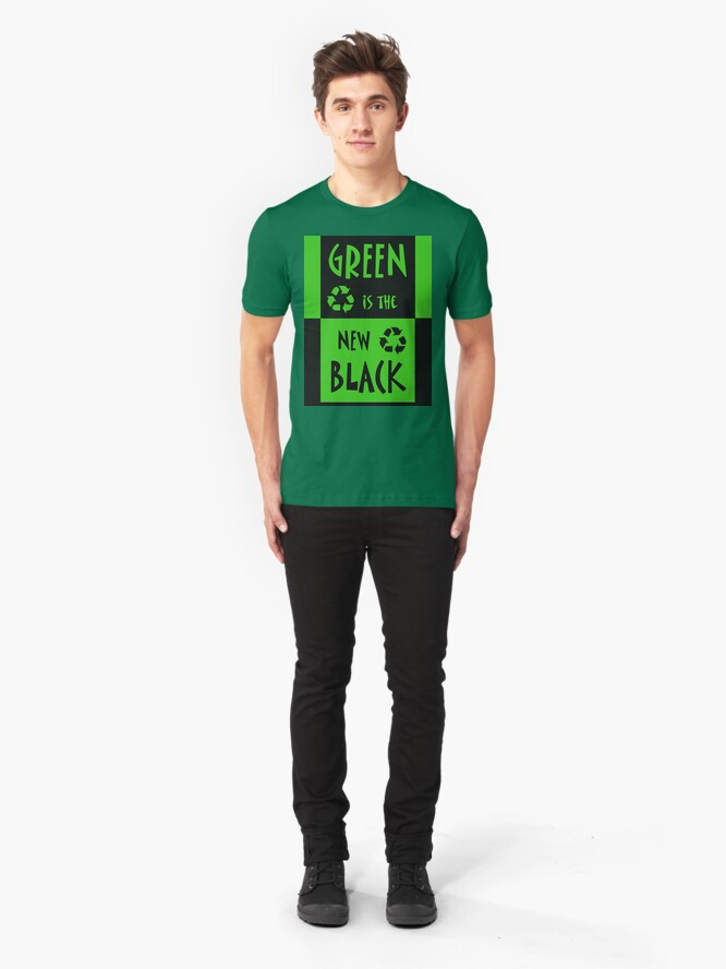 Alternate view of Green is the New Black Slim Fit T-Shirt