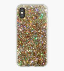 Golden Glitter Frenzy iPhone Case