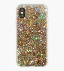 Golden Glitter Frenzy iPhone Case