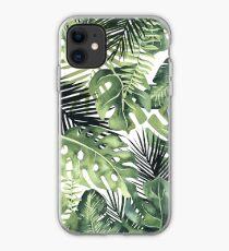 Tropische Blätter iPhone-Hülle & Cover