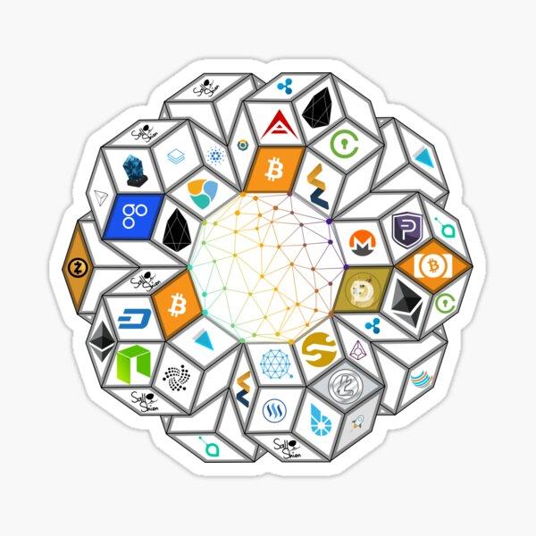 Crypto World Sticker