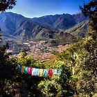 Prayer Flags in the Mountains by Kathy Weaver