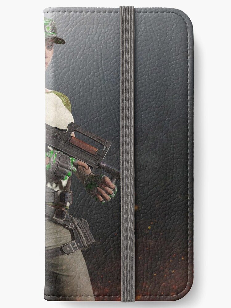 Playerunknown S Battlegrounds Pubg Groza Girl Iphone Wallet By