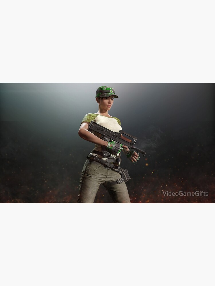 Playerunknown S Battlegrounds Pubg Groza Girl Greeting Card By