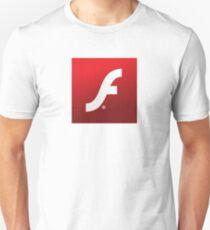 Adobe Flash logo Unisex T-Shirt