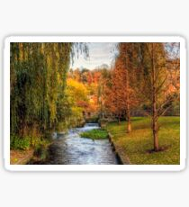 The Weirs in Winchester in Autumn Sticker