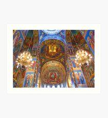 Mosaics. Church of the Savior on Blood. Saint Petersburg, Russia Art Print