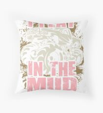 Bogging Truck Mudding Mud Play Pink Throw Pillow