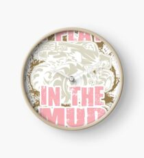 Bogging Truck Mudding Mud Play Pink Clock
