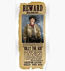 Billy The Kid Wanted Poster - © Doc Braham; All Rights Reserved Poster