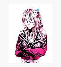 Aranea - Pink with a pinch of blue Photographic Print