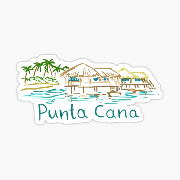 Punta Cana Panorama Sticker