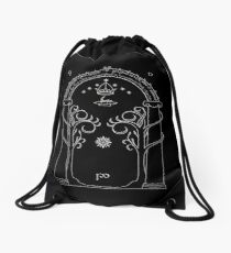 Lord of the Rings - Gates of Moria Ithilden Door Drawstring Bag
