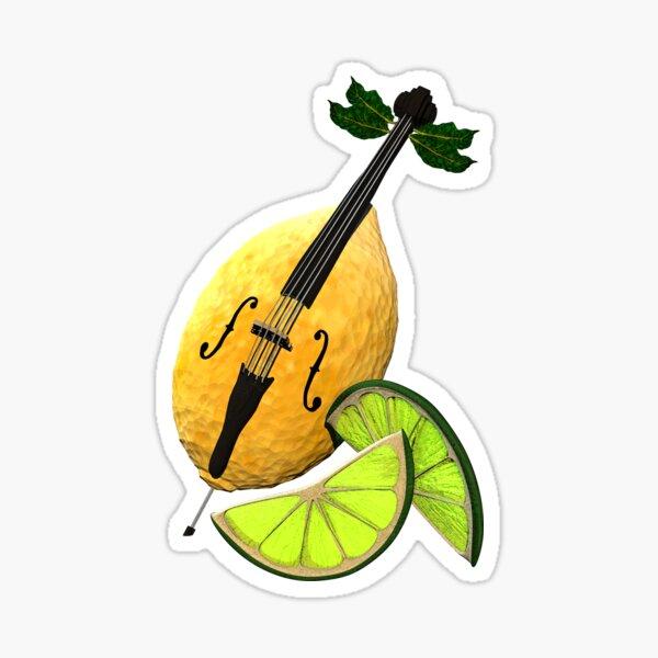 LimonCELLO wordplay artwork Sticker