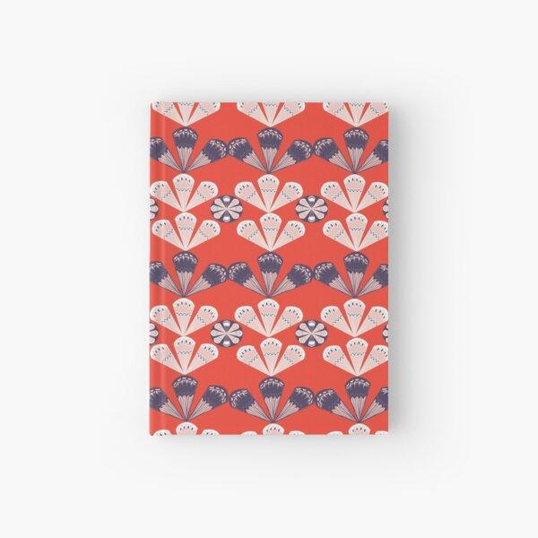 Fancy Fans - poppy Hardcover Journal