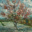 Original Vincent Willem van Gogh Impressionist Art Painting Restored Pink Peach Trees Souvenir de Mauve by jnniepce