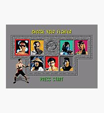 Mortal Kombat – Choose Johnny Cage Photographic Print