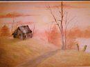 brown cottage by MLWillustration .com
