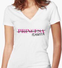 Feminista slogan Camiseta entallada de cuello en V