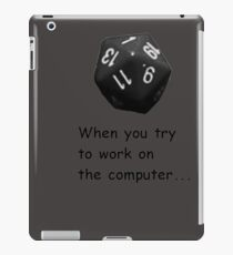 When... - Dice iPad Case/Skin