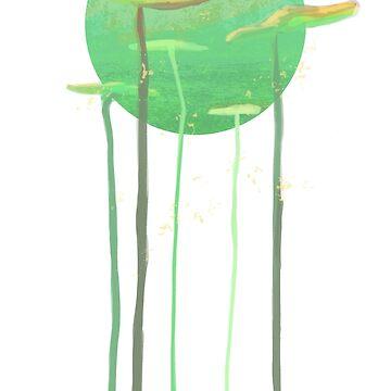 Bright Green Leaves by LinaFleer