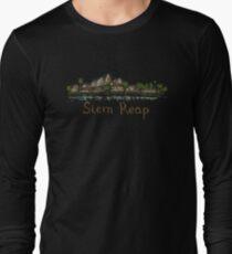 Siem Reap Panorama at night Long Sleeve T-Shirt