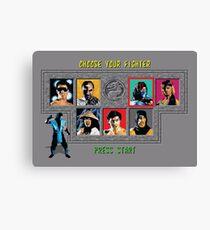 Mortal Kombat – Choose Sub Zero Canvas Print