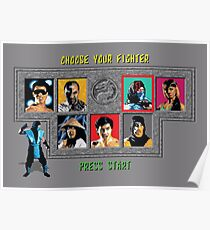 Mortal Kombat – Choose Sub Zero Poster
