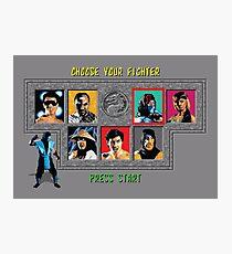 Mortal Kombat – Choose Sub Zero Photographic Print