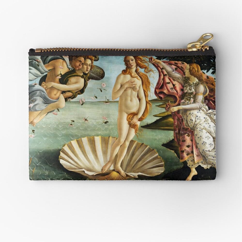 Iconic Sandro Botticelli The Birth of Venus Zipper Pouch