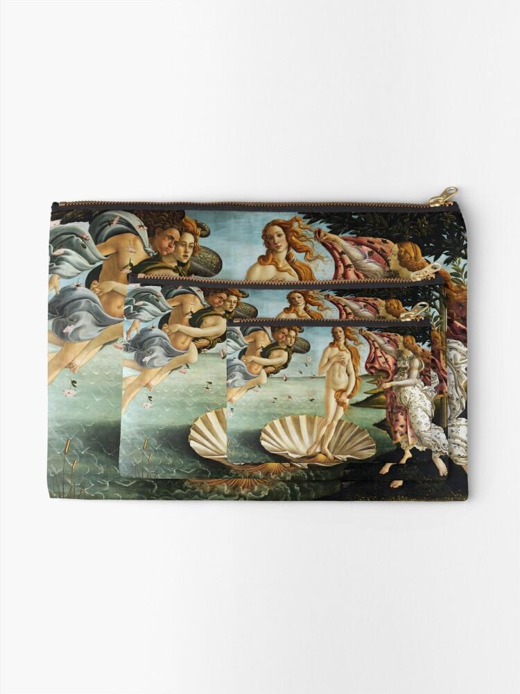 Alternate view of Iconic Sandro Botticelli The Birth of Venus Zipper Pouch